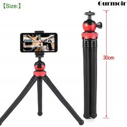 """Gurmoir 12 """"مرنة ترايبود للهاتف المحمول اي فون سلسلة كاميرا رقمية Gopro 7 ، 2in1 حامل ثلاثي القوائم مع حامل الهاتف الخليوي لفون 8 7 6 6S و Android Phone و Gopro و Digital DSLR كاميرات من جورموير"""
