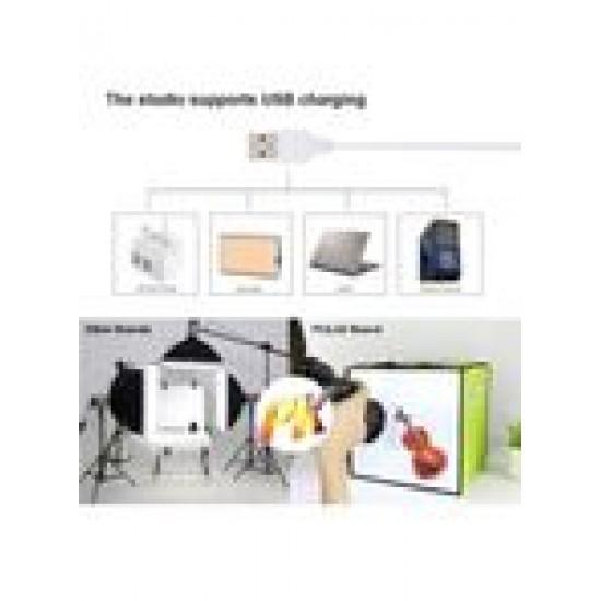 Foldable Soft Box Lighting Studio With USB Port 30x30x30سم أخضر/أبيض