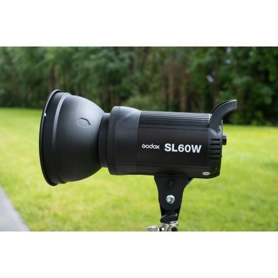Godox SL-60W، نسخة الترقية 60W CRI95+ Qa>90 5600±300K بونز ماونت عالية الطاقة ليد إضاءة فيديو مستمرة - تعديل السطوع لاسلكي، نظام تجميع 433 ميجا هرتز (6 مجموعات و16 قناة)
