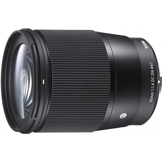 16mm F/1.4 DC DN عدسات سيجما معاصرة لكاميرات سوني اي