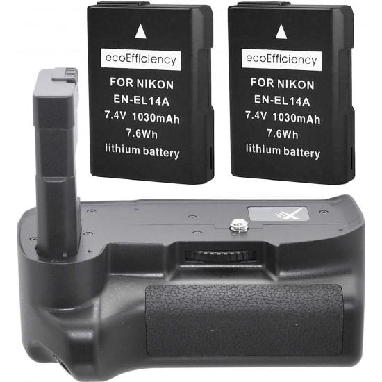 Kit de Empuñadura de batería para Nikon D3100 D3200 D3300 Digital SLR Camera