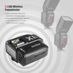 Godox Ving V860II-N 2.4G TTL Li-on Battery Camera Flash Speedlite + Godox X1T-N Wireless Trigger Transmitter for Nikon(V860II-N+X1T-N)+LETWING Cloth
