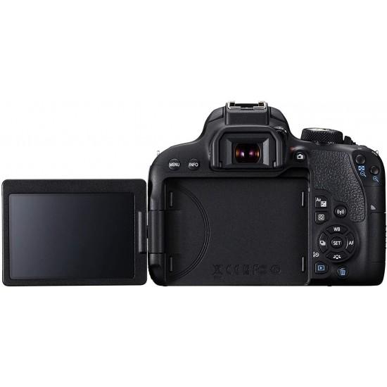 Canon EOS 800D Digital SLR with 18-55 is STM Lens Black (International Model No Warranty)