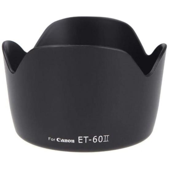 ET-60II غطاء عدسة زهرة لكاميرا Canon EF 75-300MM F/4-5.6 III EF-S 55-250mm f/4-5.6 IS