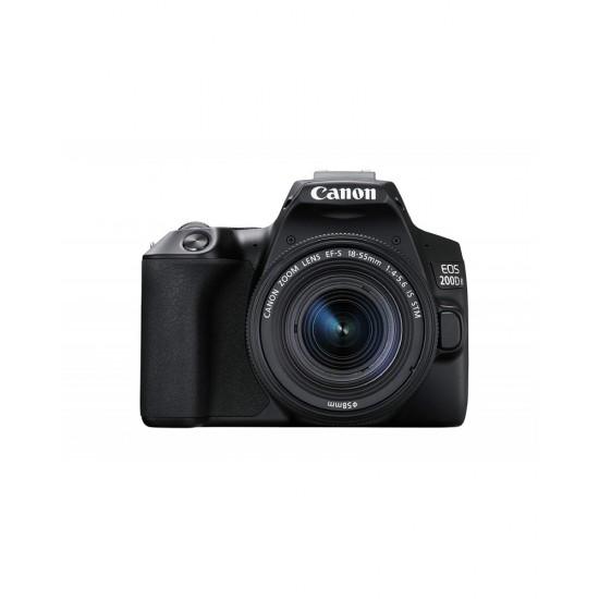 Canon 200D Mark II EF-S 18-55mm 4-5.6 IS STM lens Kit (Black)