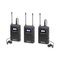 BOYA BY-WM8 Pro-K2 UHF Dual-Channel Lavalier Wireless Microphone