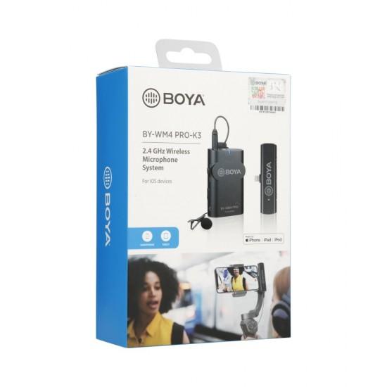 Boya 2.4 GHz Dual Lavalier Microphone Wireless BY-WM4 Pro-K3 for iOS